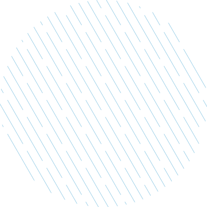 Decorative circle made out of stripes
